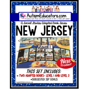 NEW JERSEY State Symbols ADAPTED BOOK for Special Education and Autism