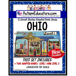 OHIO State Symbols ADAPTED BOOK for Special Education and Autism