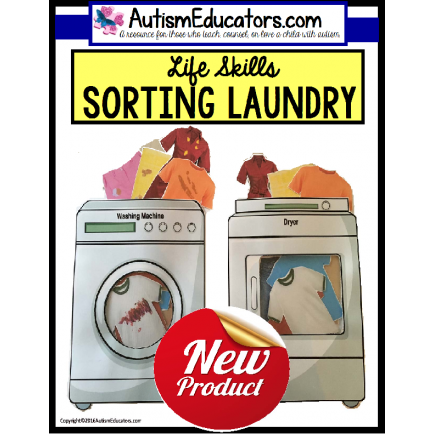 LIFE SKILLS Sorting and Matching Laundry for Special Education and Autism