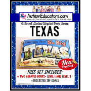 TEXAS Adapted Book for Visual Learners AUTISM and SPECIAL EDUCATION
