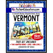 VERMONT Adapted Book for Visual Learners AUTISM and SPECIAL EDUCATION