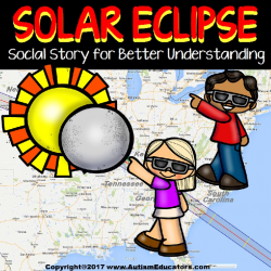 SOLAR ECLIPSE Social Story for Autism and Special Education Social Skills