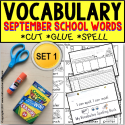 SEPTEMBER Vocabulary and Fine Motor MONTHLY Worksheets for Special Education