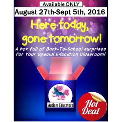 Back To School SURPRISE BOX for Autism and Special Education