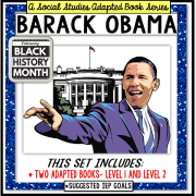 BARACK OBAMA Black History Month ADAPTED BOOK for Special Education and Autism
