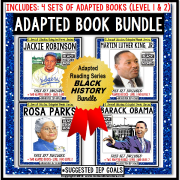 BLACK HISTORY Adapted Book BUNDLE For Special Education