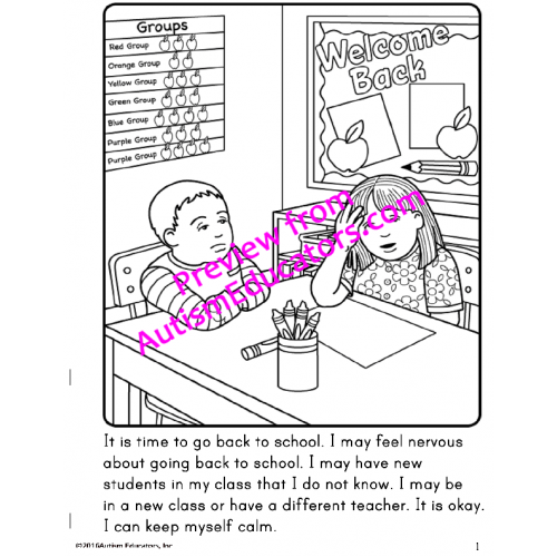 social stories coloring pages - photo#9