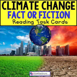 CLIMATE CHANGE True or False TASK CARDS Task Box Filler