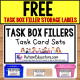 TASK BOX Sets FREE Storage Labels