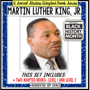 MARTIN LUTHER KING, JR. Black History Month ADAPTED BOOK for Special Education and Autism