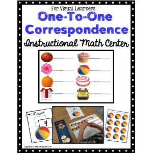 One To One Correspondence Instructional Math Center for Special Education/Autism