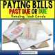 LIFE SKILLS Task Cards PAYING BILLS BY DUE DATE Task Box Filler for Autism