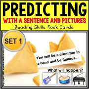 "Reading Comprehension PREDICTING WHAT HAPPENS Task Cards ""Task Box Filler"""