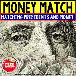 President's Day Money Matching File Folder Activity