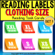 "LIFE SKILLS Task Cards - Reading Labels CLOTHING SIZE ""Task Box Filler"" Autism"