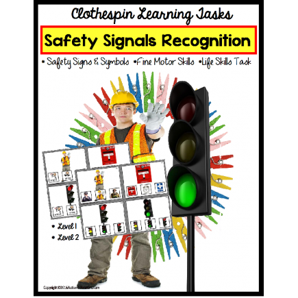 LIFE SKILLS Safety Signs and Symbols 48 Task Cards
