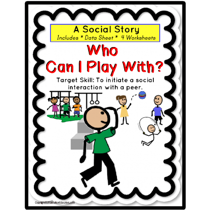 Social Story for Autism - WHO WILL PLAY WITH ME AT RECESS