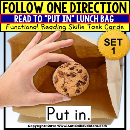 Task Cards FOLLOW ONE DIRECTION Task Box Filler