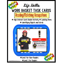 LIFE SKILLS Work Task Basket OCCUPATIONS Functional Reading Special Education