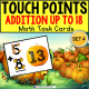 "TOUCH POINT Addition To 18 TASK CARDS PUMPKIN Theme ""Task Box Filler"" for Autism"