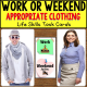 "Appropriate WORK or WEEKEND CLOTHING Task Cards ""Task Box Filler"" for Autism"
