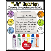 """WH"" Question Listening Comprehension Activity for Autism and Special Education"