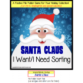 FREE Santa Claus Sorting File Folder Game