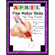 Fine Motor Skills NO PREP Packet for APRIL (Special Education)