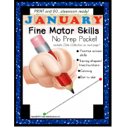 Fine Motor Skills NO PREP Worksheet Packet for JANUARY