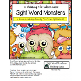 FREE File Folder Game MONSTER SIGHT WORDS
