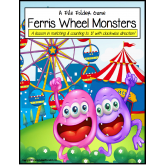 FREE Monster Ferris Wheel Number Matching File Folder Game