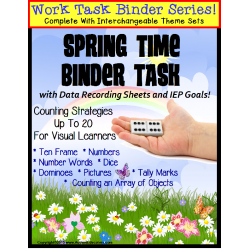 REFILL ONLY: Autism Work Task Binder with Data SPRING THEME