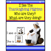 THANKSGIVING PILGRIMS - Build a Sentence with Pictures Interactive Activity Book