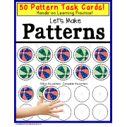 Pattern Task Cards with Data for Special Education