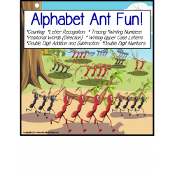 FREE! Alphabet Ants Counting/Adding/Letter Recognition/Direction