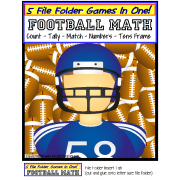 Football File Folder Games (5 Games in One!)