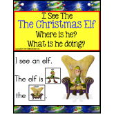 Build A Sentence with Pictures Interactive - CHRISTMAS ELF