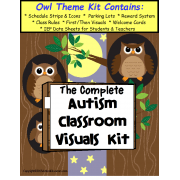 The Complete Autism Classroom Visuals Kit -OWL THEME