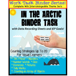 Autism Work Task Binder with Data: Counting to 20 VALENTINES and THE ARCTIC
