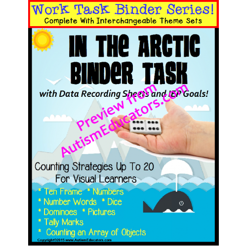 Autism Work Task Binder With Data Counting To 20 Valentines And The
