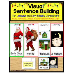 Special Education Visual Sentence Building for Early Readers - SANTA CLAUS
