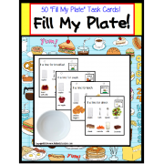 "Autism ""Fill My Plate"" Interactive Activity for Language and Special Education"