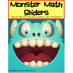 Monster Math Sliders Counting Up to 20