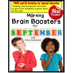 Special Education PRINT and GO Morning Brain Boosters SEPTEMBER