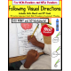 Autism FOLLOWING VISUAL DIRECTIONS Print and Go Worksheets LEARN TO READ