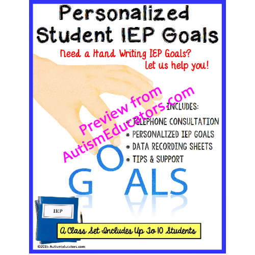 writing goal for iep Find out how to tell if your child's annual iep goals are smart: specific, measurable, attainable, results-oriented and time-based here's how to recognize smart iep goals.
