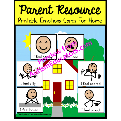 picture regarding Free Printable Emotion Cards named Cost-free Autism Dad or mum Instrument Inner thoughts Playing cards FOR Property
