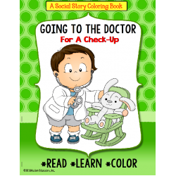 Social Story Coloring Book Series GOING TO THE DOCTOR (Boy version)