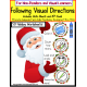 Autism: FOLLOWING VISUAL DIRECTIONS HOLIDAY Worksheets for NON-READERS Data/IEP Goal