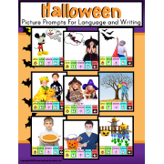 HALLOWEEN Writing Language Prompts with Visual Support AUTISM